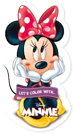Let's color with... Minnie